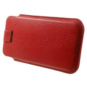 iPod Touch 6/5 Genuine Leather Pouch Case Red