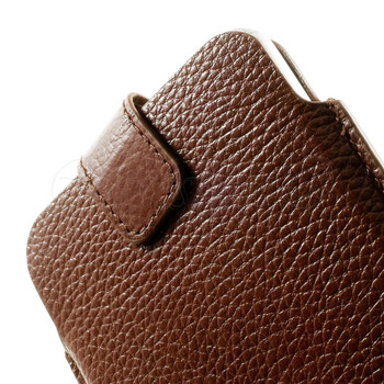 iPod Touch 6/5 Genuine Leather Pouch Case Brown