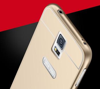 Samsung Galaxy S5/S5 NEO Metal Bumper Gold+Hard Back Case