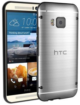 HTC One M9 Black Bumper Clear Back