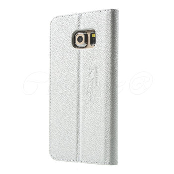 Samsung Galaxy S6 EDGE PLUS Genuine Leather Case White