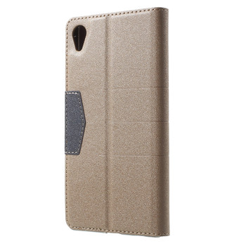 Sony Xperia Z5 Wallet Case Gold