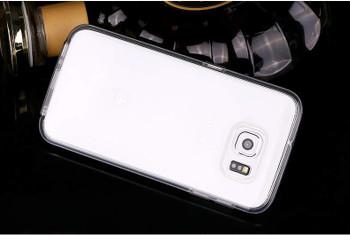 Samsung S6 Aluminum Bumper Black+Transparent Back