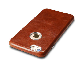"""iCarer iPhone 6/6S """"PLUS"""" Vintage Leather Back Cover Brown"""