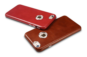 """iCarer iPhone 6/6S+""""PLUS"""" Vintage Leather Back Cover Red"""