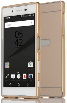 Sony Xperia Z5 Metal Bumper Case+Hard Back Gold