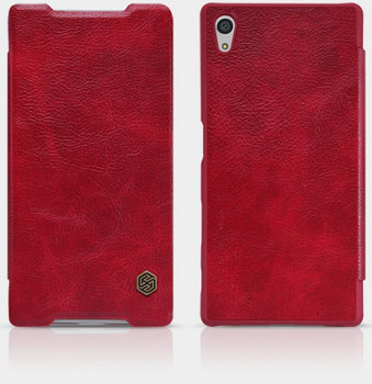 Nillkin Sony Xperia Z5 Qin Leather Case Red