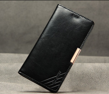 Sony Xperia Z5 Luxury Leather Wallet Case Black