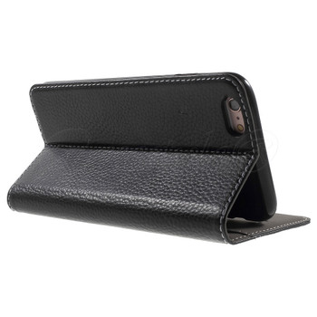 iPhone 6S+6 PLUS Genuine Leather Booklet Cover Black