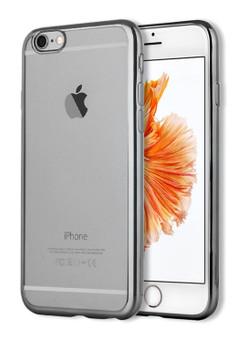 iPhone 6S 6 Bumper Cover Black Clear Back