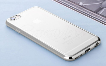 iPhone 6S+6 PLUS Bumper Cover Silver Transparent