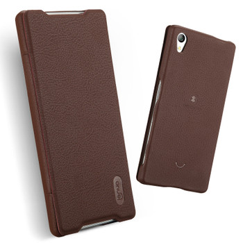 Sony Xperia Z5 Leather Slim Cover Coffee