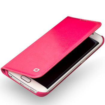 S6 Edge Leather Pink
