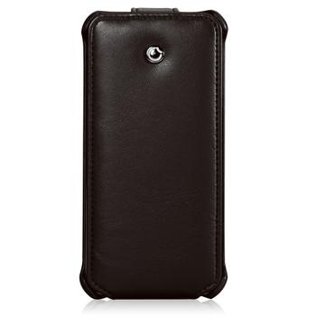iPhone 5S 5 Leather Flip Case Black