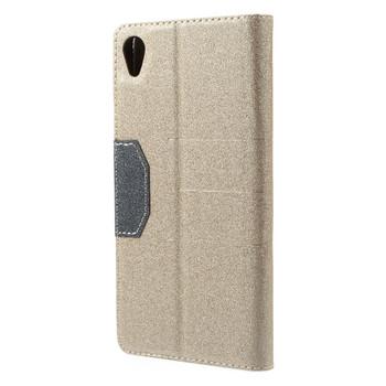 Sony Xperia Z3 Flip Cover Case Gold