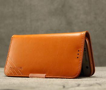 Samsung Galaxy S7 Premium Leather Case Brown
