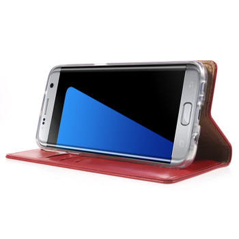 Mercury Samsung Galaxy S7 Edge Wallet Case Red