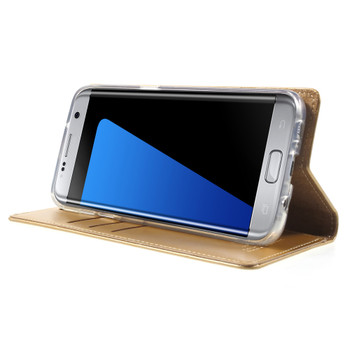 Mercury Samsung Galaxy S7 Edge Wallet Case Gold