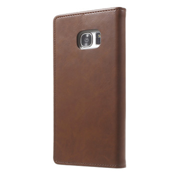 Mercury Samsung Galaxy S7 Edge Wallet Case Brown