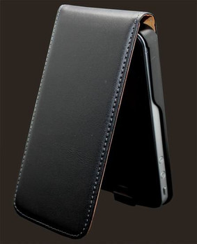 Ultra Slim Genuine Leather iPhone 4S 4 Flip Case Black