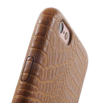 iPhone 6S 6 Alligator Style Case Tan