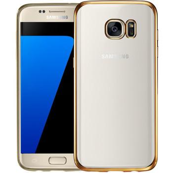 Samsung S7 EDGE Bumper Case Gold+Transparent Back