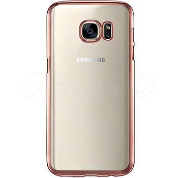 Samsung S7 EDGE Bumper Case Pink+Transparent Back