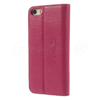 iPhone SE Real Leather Slim Cover Pink