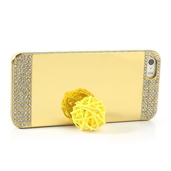 iPhone SE Diamond Mirror Luxury Case Gold