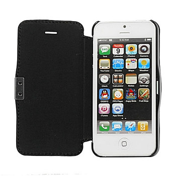 iPhone SE Leather Wallet Magnet Case Black