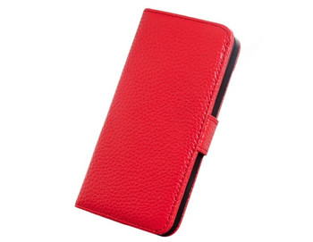 iPhone SE Genuine Leather Wallet Case Red