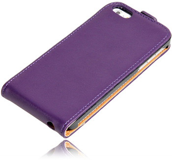 iiPhone SE Leather Case Purple