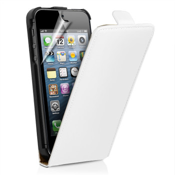 iPhone SE White Leather Case
