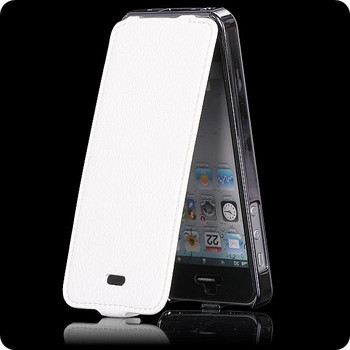 iPhone SE Luxury Leather Flip Case White