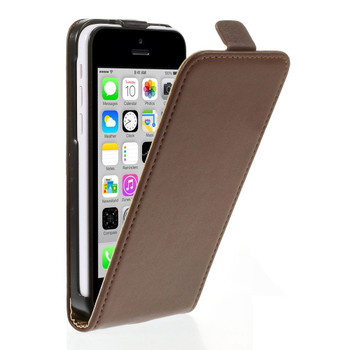 iPhone 5C Leather Flip Cover