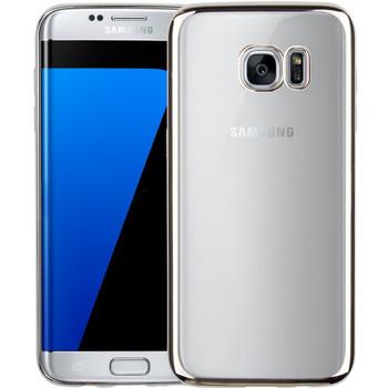 Samsung S7 EDGE Bumper Case Silver+Transparent Back
