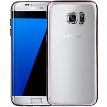 Samsung S7 EDGE Bumper Case Black+Transparent Back