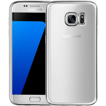 Samsung Galaxy S7 Bumper Case Silver+Transparent