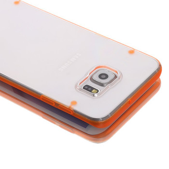 Samsung Galaxy S6 EDGE Bumper Case Orange Clear
