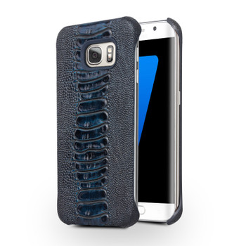 Samsung Galaxy S7 EDGE Ostrich Luxury Real Leather Case