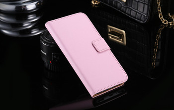Samsung Galaxy S7 EDGE Leather Wallet Cover Pink