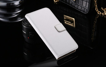 Samsung Galaxy S7 EDGE Leather Wallet Cover White