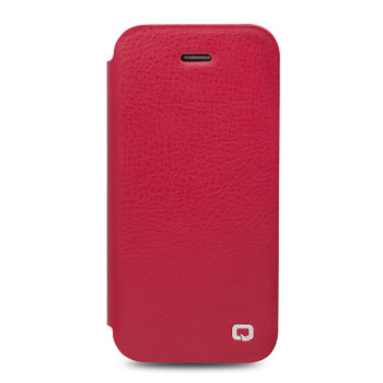 Qialino iPhone SE Real Leather Case Cover Red