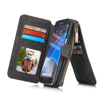 Samsung Galaxy S7 EDGE Leather Wallet Case-14 Card Slots