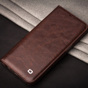 Qialino Samsung Galaxy S7 EDGE Luxury Leather Case Brown