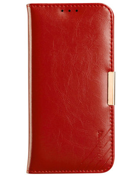 LG G5 Premium Leather Wallet Case Red