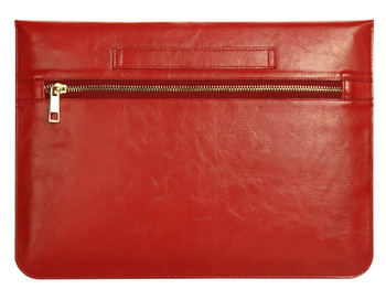 MacBook 11.6 Inch Real Leather Case Sleeve Bag Red