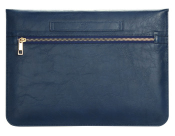 MacBook 11.6 Inch Real Leather Case Sleeve Bag Blue