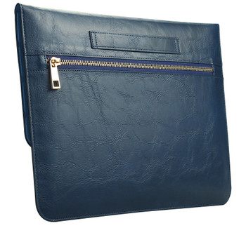 MacBook Pro/Air 13 Inch Real Leather Sleeve Case Bag Blue