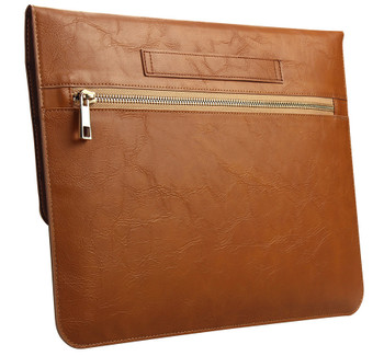 MacBook Pro/Air 13 Inch Real Leather Sleeve Case Bag Brown